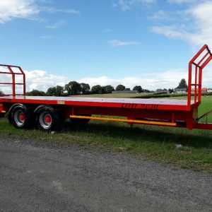 2 pack red enamel on a trailer
